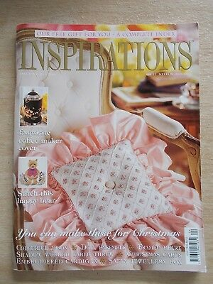 Inspirations #24~Embroidery Projects~Doll Ensemble~Apron~Xmas Cards~Cardigan...