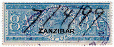 (I.B) Zanzibar Revenue : Duty Stamp 8a