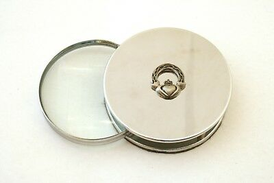 Claddagh Ring Chrome Plated Magnifying Glass Desktop Friendship Gift 74