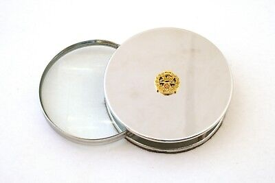 Royal Hampshire Chrome Plated Magnifying Glass Desktop Military Gift