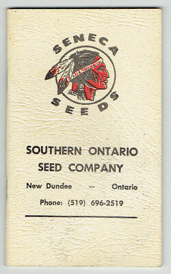 1968 Seneca Seeds Pocket Note Book - Southern Ontario Seed Co New Dundee Ontario