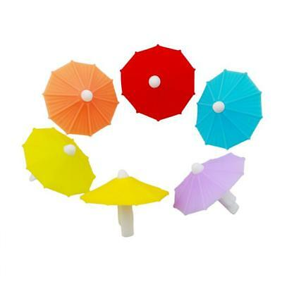 6Pcs Cup Markers Umbrella Shape Wine Accessories Wine Glass Label for Glass BS