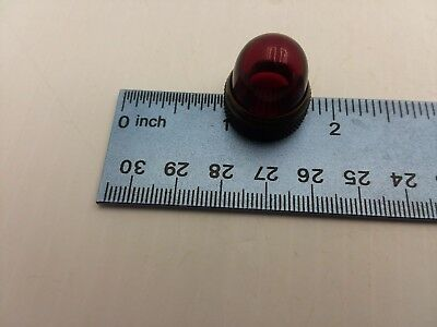 Dialight Red 3/4 (.65) Inches In Diameter Base Dome Lens Nnb