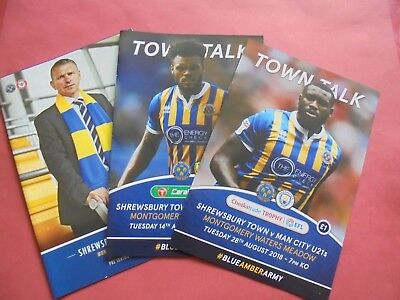 2018/19 Shrewsbury Home Programmes Choose From