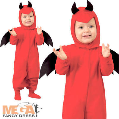 Baby Red Devil Toddler Kids Halloween Fancy Dress Childrens Costume Outfit 6M-2Y