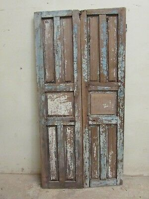 Antique Pair Mexican Old-Vintage-Primitive-Rustic-36x75-Barn Doors-Great Price