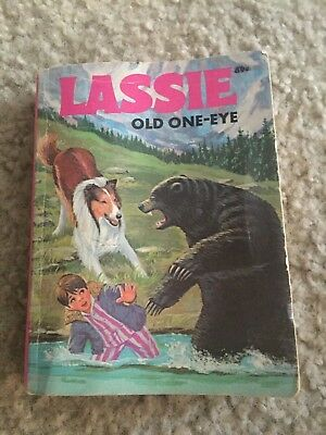 """Nice vintage 1975 Lassie Old One-Eye book small size 5"""" x 3 1/2"""""""