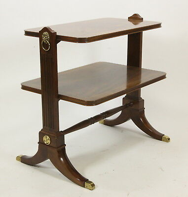 Baker Furniture 2-Tier Occasional Table Butler Service Table Empire Style