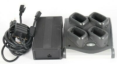 Motorola Symbol SAC9000-4000R 4 Slot Battery Charger Dock Cradle w Power Supply