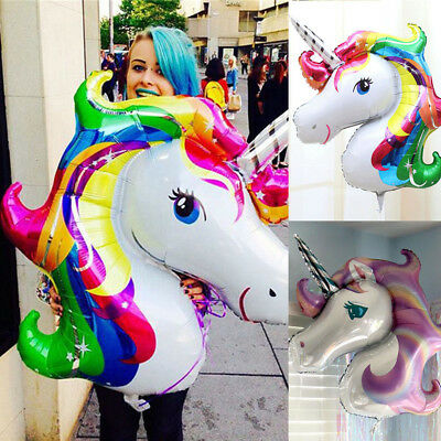 33'' Unicorn Foil Balloon Birthday Party Decoration Props Kids Girls Toys Gifts