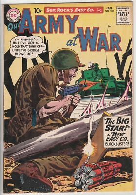Our Army at War # 102 Strict FN/VF Artist Joe Kubert, Sgt.Rock and Easy Co.