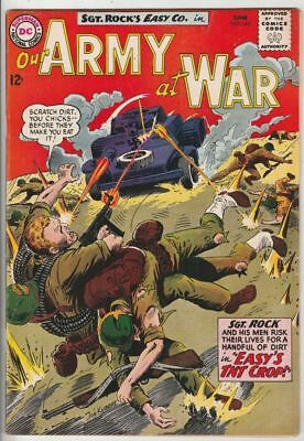 Our Army at War # 143 Strict VF+ Artist Joe Kubert Cover Sgt.Rock and Easy Co.