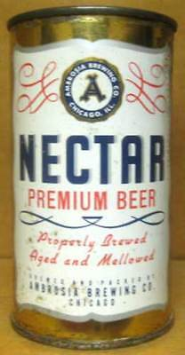 NECTAR BEER USBC102-29 Flat Top CAN Ambrosia Brewing Co., Chicago, ILLINOIS 1955