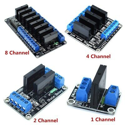 5V DC 1pc 1/2/4/8 Channel 240V 2A Solid State Relay SSR Module AC-DC For Arduino