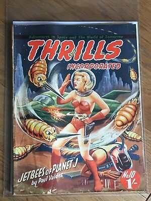 Thrills Incorporated No.10 - Australian oversize SF pulp 1950's - Paul Valdez