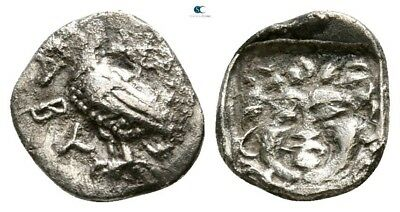 Savoca Coins Troas Abydos Obol Eagle Gorgoneion 0,50 g / 9 mm @NNN14493