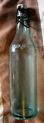 Antique Beech Nut bottle@ porcelain and wire cap. Canajoharie,N.Y.