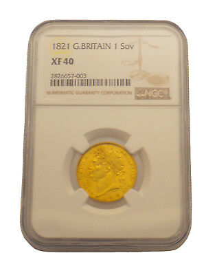 1821 Great Britain Sovereign - George IV Gold  NGC XF 40