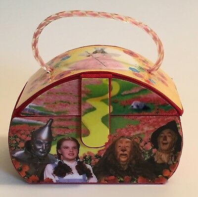 """Beautiful """"Wizard of Oz"""" animated Purse Music Box """"Over The Rainbow"""" song / NM"""
