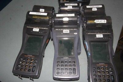 Lot of (6) CASIO Hand-Card Receipt Machine--Point of Sale & Manual Card Unit