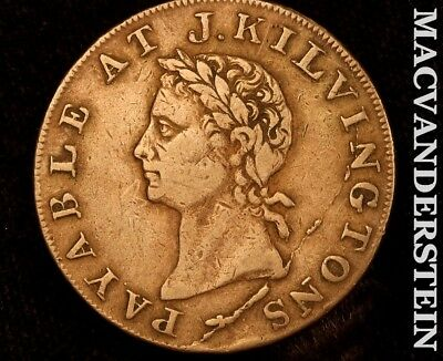 Great Britain: 1795 Half Penny Conder Token - J. Kilvingtons - #b8076