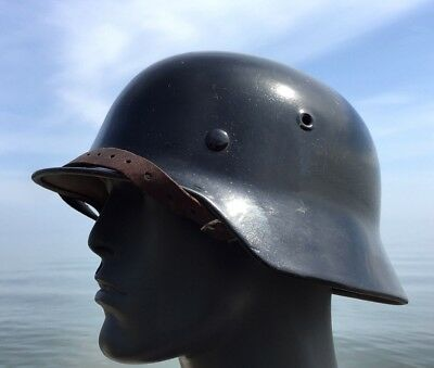 WW2 Dolled Up M-40 GERMAN HELMET DATED 1940 LINER RIM & Chinstrap WWII ET66 SEXY