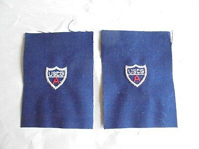 2 Cool Vintage USCG A United States Coast Guard Auxiliary Military Patches Patch