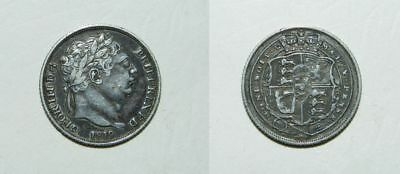 George Iii Silver Sixpence 1819 -  Attractive Grade & Tone