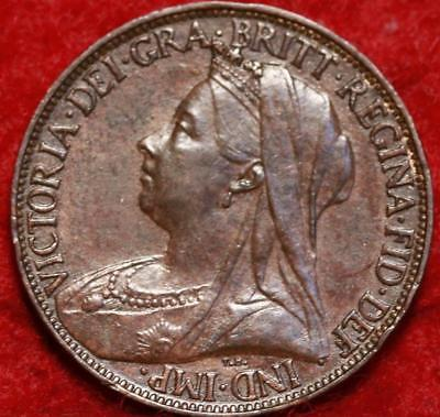 1899 Great Britain Farthing Foreign Coin