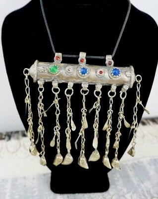 Antique / Old Vintage ~ BEDOUIN ~ Tribal Necklace ~ Silver Prayer Box / Amulet