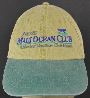 Beige Marriott's Maui Ocean Club Embroidered Baseball Hat Cap Adjustable Strap
