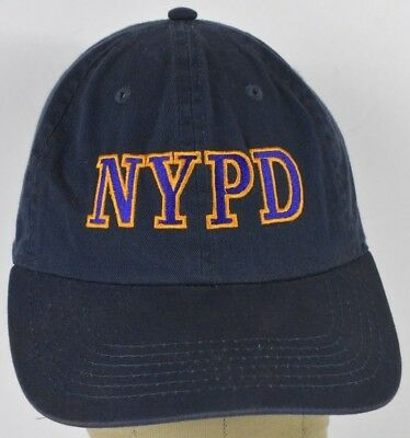 96fb44f74 NAVY BLUE NYPD New York Police Dep Embroidered Baseball Hat Cap Adjustable  Strap