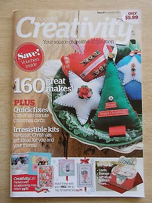 docrafts~Creativity #30~Xmas Projects~Cards~Home Decor~Wreath~Felt Florals...