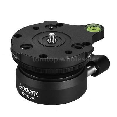 Andoer DY-60A Tripod Leveling Base Panorama Photography Ball Head for Canon H2W7