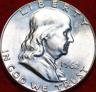 Uncirculated 1962 Philadelphia Mint Silver Franklin Half