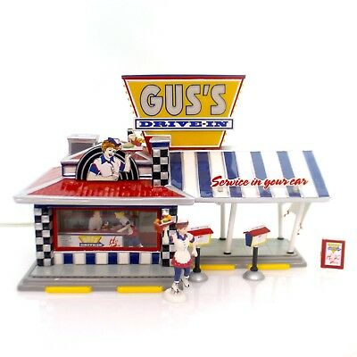 Dept 56 Snow Village - Gus's Drive-In  55067 Set 7 Retired 2003 With Box