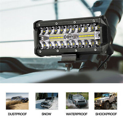 7inch CREE LED Work Light Bar Spot Flood OffRoad Fog Driving 4WD SUV 4x4 Reverse