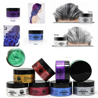 Grey  Washable  Pomades Hair Dye Cream Coloring Wax Mud Temporary Styling