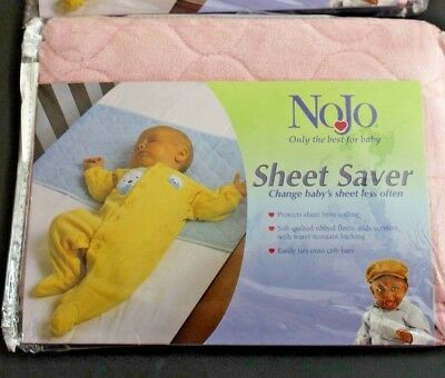 New  NoJo Baby Quilted SHEET SAVER Crib Protector Waterproof Back PINK