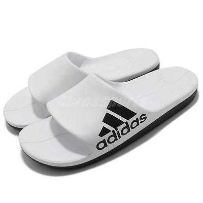 dcfdbe42a27 adidas Aqualette Cloudfoam White Black Men Sports Sandal Slippers Slides  CM7927