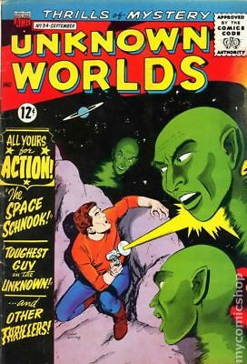 Unknown Worlds #34 1964 VG- 3.5 Stock Image Low Grade