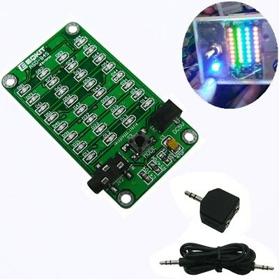 DIY Audio Spectrum Music Indicator Kit 8x4 Colorful SMD Soldering Practice Board