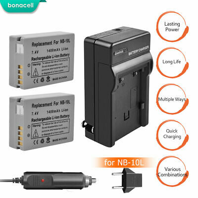 NB-10L Battery or Charger Kit For Canon PowerShot SX40 SX50 SX60 HS G1 X G16 G15