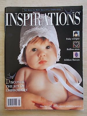 Inspirations #7~Embroidery Projects~Romper~Bluebirds~Bridge Cloth~Baby Acc~Smock