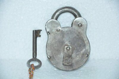 Old Iron Handcrafted Unique Shape 4 Lever Padlock, Britain