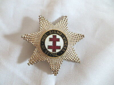 Masonic Knights Templar Preceptors Star Badge (21D)