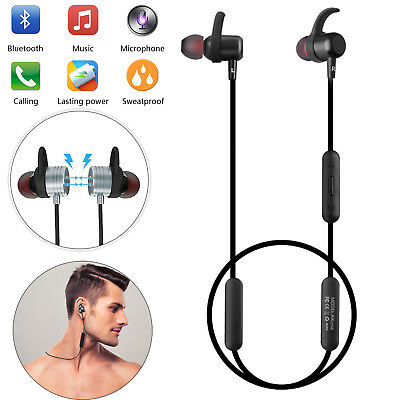 Bluetooth Headset Wireless V4.2 Sports Stereo Earbud with Mic for iphone X 9 8 7