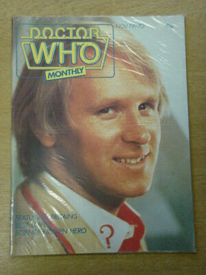 Doctor Who #70 1982 Nov British Weekly Monthly Magazine Dr Who Dalek Cybermen