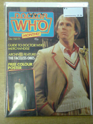 Doctor Who #71 1982 Dec British Weekly Monthly Magazine Dr Who Dalek Cybermen