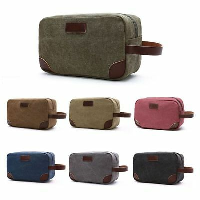 Men Canvas Travel Cosmetic Bag Fashion Multifunction Makeup Pouch Toiletry Case